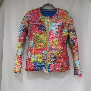 """Lilly Pulitzer XS Lilah Qulited Puffer Jacket 34"""""""